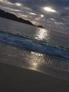 阿嘉島ヒズシビーチの夕暮れ